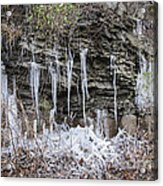 Eagle Rock Icicles 2 Acrylic Print