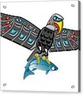 Eagle Salmon Totem Acrylic Print