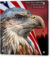 Eagle With Pledge Allegiance Acrylic Print