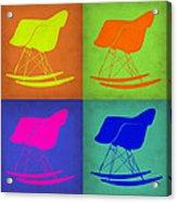 Eames Rocking Chair Pop Art 1 Acrylic Print
