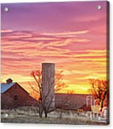 Early Country Morning Sunrise Acrylic Print