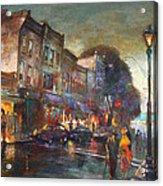 Early Evening In Main Street Nyack Acrylic Print