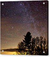 Early Evening Milky Way Acrylic Print by Steven Valkenberg