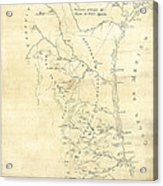 Early Hand-drawn Southern Texas Map C. 1795 Acrylic Print