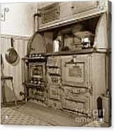 Early Kitchen With A Gas Stove 1920 Acrylic Print