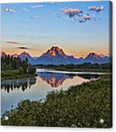 Early Morning At Oxbow Bend Acrylic Print
