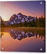 Early Morning At Picture Lake Acrylic Print