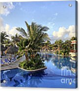 Early Morning At The Pool Acrylic Print