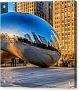 Early Morning Bean In Chicago Acrylic Print