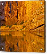 Early Morning Canyon Reflection Acrylic Print