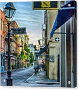 Early Morning In French Quarter Nola Acrylic Print