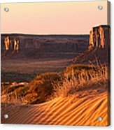 Early Morning In Monument Valley Acrylic Print