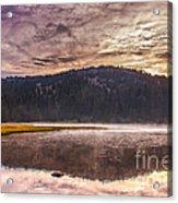 Early Morning Lake Light Acrylic Print by Robert Bales