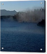 Early Morning Mist On A Lake Acrylic Print
