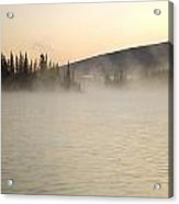 Early Morning Mist On Boya Lake Acrylic Print