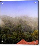 Early Morning Mist Over The Rain Forest Acrylic Print