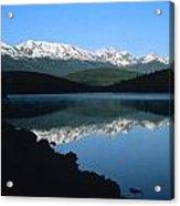 Early Morning Mountain Reflection Acrylic Print
