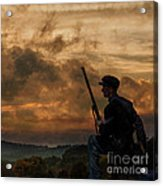 Early Morning Picket Duty Union Soldier Acrylic Print