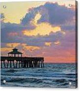 Early Morning Pier Acrylic Print