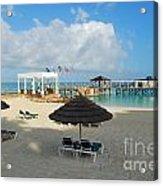 Early Morning Shade On A Tropical Beach   Acrylic Print