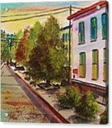 Early Morning Side Street  Acrylic Print