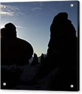 Early Morning Silhouette Acrylic Print