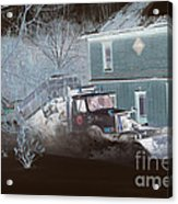 Early Morning Snow Plow Acrylic Print