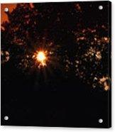 Early Morning Sun Burst Acrylic Print
