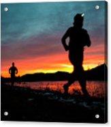 Early Morning Trail Running Acrylic Print