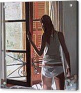 Early Morning Villa Mallorca Acrylic Print by Gillian Furlong