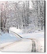 Early Morning Winter Road Acrylic Print