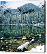 Early Snow At Nymph Lake Acrylic Print