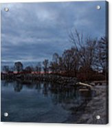 Early Still And Transparent - On The Shores Of Lake Ontario In Toronto Acrylic Print