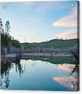 Early Sunset On A Beaver Pond  Acrylic Print