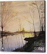 Early Winter Riverside Acrylic Print