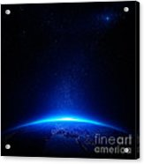 Earth At Night With City Lights Acrylic Print