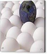 Earth Egg Pollution Acrylic Print