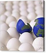 Earth Egg Torn Apart Acrylic Print