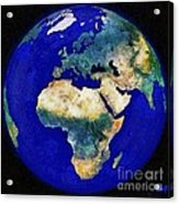 Earth From Space Europe And Africa Acrylic Print