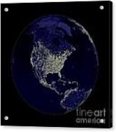 Earth Globe Lights Acrylic Print