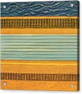 Earth Layers Abstract Ll Acrylic Print