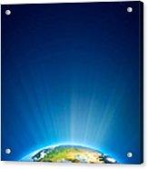 Earth Radiant Light Series - Europe Acrylic Print