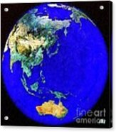 Earth Seen From Space Australia And Azia Acrylic Print