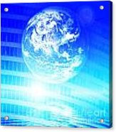 Earth Technology Background Acrylic Print by Michal Bednarek