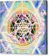 Earth Water Spirit Madonna Peace Matrix Acrylic Print