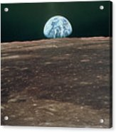 Earthrise From Moon During Apollo 11 Acrylic Print