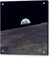 Earthrise Over The Moon Acrylic Print