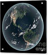 Earths Western Hemisphere With Rise Acrylic Print