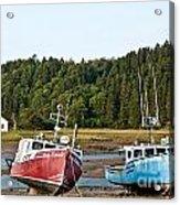 East Coast Low Tide Scene Acrylic Print