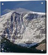 1m3743-east Face Mt. Kitchener With Cloud Acrylic Print